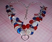 Blighty button charm necklace ready for the jubilee £8.00