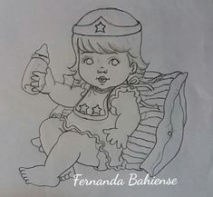 Coloring Books, Coloring Pages, Baby Drawing, Videos, Dolls, Drawings, How To Make, Gifts, Girl Paintings