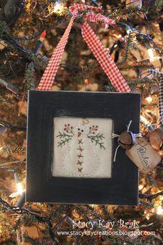 Handmade Primitive Snowman Christmas by ScrapbookingCottage