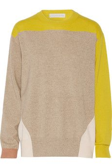 Stella McCartney Colorblock cashmere sweater | THE OUTNET
