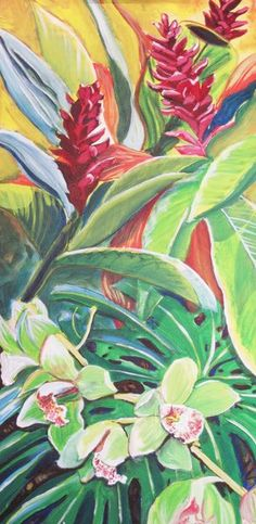 Hawaii Artist: Stephanie Bolton - More Flower Portraits