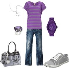 Casual Purple, created by wcatterton on Polyvore