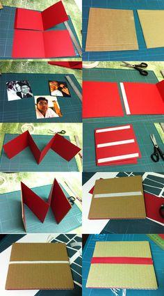 Aprenda a fazer! Tutorial Mini Album Namorados. Um mini album sanfonado muito fácil de fazer. Ideal para iniciantes.