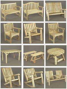 Rustic Cedar Furniture available at www.adirondackauthority.com