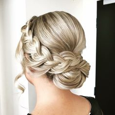 Bridal Hair Updo, Wedding Hair And Makeup, Hair Makeup, Fancy Hairstyles, Bride Hairstyles, Hair Upstyles, Front Hair Styles, Wedding Hair Inspiration, Love Hair
