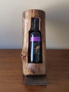 Wine Bottle Holder Rustic Pine and Aspen Wood Décor - SOLD! : Wine Bottle Holder Rustic Pine and Aspen Wood Décor Wooden Wine Bottle Holder, Wood Wine Racks, Wine Bottle Holders, Wine Bottle Crafts, Bottle Bottle, Wine Bottles, Aspen Wood, Wood Design, Design Crafts