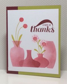 PTI MAKE IT MONDAY #248: INK BLENDING THROUGH DIE CUT MASKS One layer card/Mega Gracious Vases