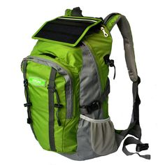 The Back Pack With Built In Solar Panel