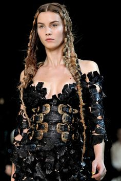 Alexander McQueen 2011 S/S  It looks like fantasy armor.