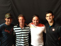 Nadal and Djokovic in Chile for the exhibition together with Nalbandian and Massu November 2013