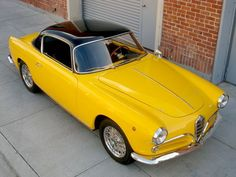 Vintage Cars 1956 Alfa Romeo 1900 Coupe Touring - Modern Resume Template with Cover Letter Auto Retro, Retro Cars, Vintage Cars, Alpha Romeo, Alfa Alfa, Alfa Romeo Spider, Alfa Romeo Giulia, Yellow Car, Alfa Romeo Cars