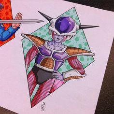 Form Frieza Tattoo Design by Hamdoggz on DeviantArt Dragon Ball Z, Dragon Z, Akira, Lord Frieza, Ball Drawing, Cultura Pop, Big Eyes, Graphic Design Art, Anime Manga