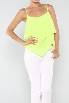 Neon Chiffon Tank #wholesale #neon #fashion #shop #ootd