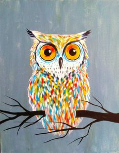 "Image of 12/1 ""Hoot!"" B.Y.O.B. (bring your own beverage) Paint & Sip Class"