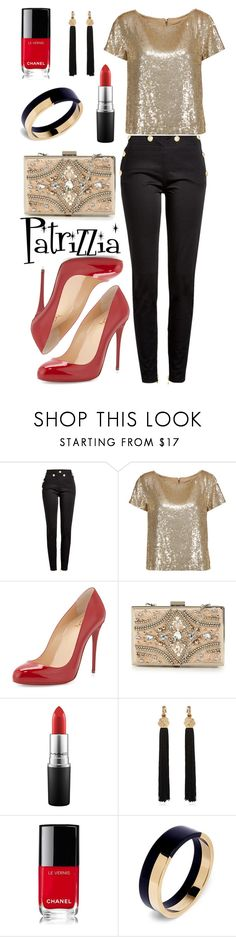 Patrizzia28.04.2017b by patrizzia on Polyvore featuring moda, Alice + Olivia, Balmain, Christian Louboutin, Forever Unique, Yves Saint Laurent, Marni, MAC Cosmetics and Chanel