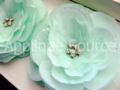 Set of 2 Boutique Layered Mint Green Silk and by appliquesource, $4.40