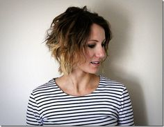 Easy tutorial to create crimped loose waves with your flat iron from ONE little MOMMA