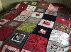 """Made by Marga de D. - A Blanket - From The Scheepjes CAL 2014 - In Memory of Marinke (Wink) Slump R.I.P. (Crochet Squares / Afghan / Blanket) Pattern is   STILL FREE & AVAILABLE    on her Blog: """"A Creative Being"""""""