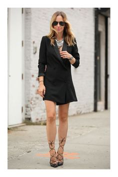 Looks con Vestido Blazer