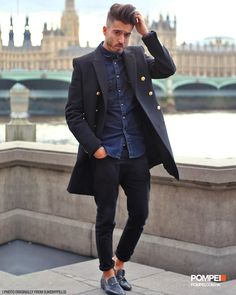 I love taliored double-breasted coat. You don't need to match your clothing…