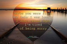 Tired of being sorry-Enrique Iglesias