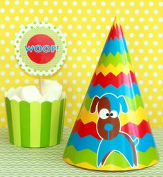 Puppy Birthday Party Package - DIY Birthday Printables by PixieBearParty on etsy