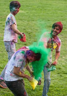 "On April 26, students at The Catholic University of America celebrated Color Fest, which was based on Holi, a Hindu celebration of color and love. The event featured spring themed crafts and a color ""fight"" on the Edward J. Pryzbyla University Center Lawn. A bonfire with music and food followed on the Opus Lawn, rekindling a CUA tradition."