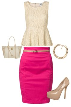 pink skirt | Looks - Skirts - Pink | Pinterest | Nice, Fashion and ...