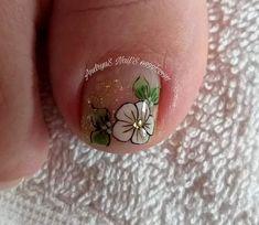 Pedicure Designs, Toe Nail Designs, Toe Nail Art, Toe Nails, Acrylic Toes, Manicure And Pedicure, Finger, Lily, Make Up