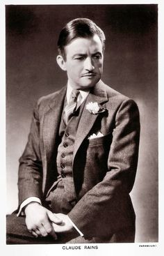 Hollywood Men, Old Hollywood Stars, Classic Hollywood, Classic Actresses, Classic Films, Actors & Actresses, Claude Rains, Invisible Man, Movie Stars