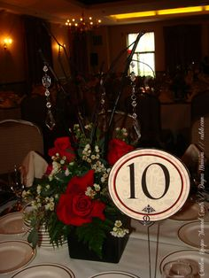 #wedding #blackandred #tablenumbers #custom by dayna mancini // event design and coordination // cutetc.com