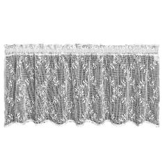 Heritage Lace Trellis 60-Inch Wide by 20-Inch Drop Valance, White by Heritage Lace. $18.99. Medium-gauge lace. Made in USA. Window valance. Machine wash cold, gentle. 60-Inch wide by 20-inch drop. Trellis 60-inch wide by 20-inch drop White Valance includes an overall design of repeating floral motifs against a light open-weave background. Includes 1-inch header and 1-1/2-inch rod pocket in the stated dimensions. Serged hem.