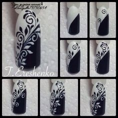 NEW HAIR IDEAS NAIL DESIGNS AND MAKE UP TUTORILS EVERYDAY: Beautiful Idea Nail Art Design Black And White