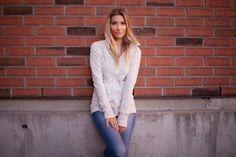 Titika active wear style challenge  Titika high collar sweater / Zara denim / Converse