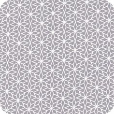 tissu nordic star grey - cousette
