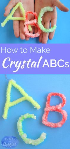 It's easy to make beautiful, sparkly letters out of borax crystals. Combine a little STEM learning with literacy for a fun kids' activity.