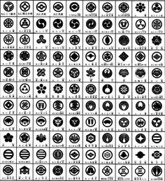 家紋 (Family crest) Japanese emblems used to decorate and identify an individual or family.