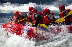 IN ACTION! Whitewater rafting