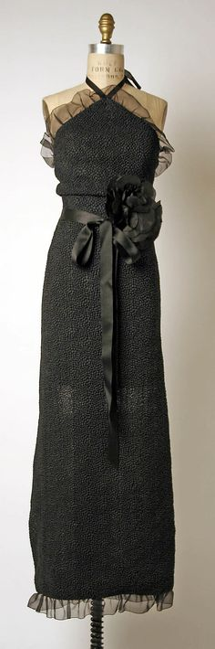Evening Ensemble, House of Givenchy  (French, founded 1952): 1978, silk.
