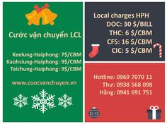 Giá cước vận chuyển hàng lẻ (LCL) từ Taiwan về Hải Phòng  #cuocvanchuyen #LCL #taiwan  #haiphong
