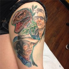 Jurassic Park #tattoo by Jerrid Rodriguez in Austin, TX #JurassicPark