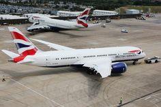 British Airways' first Boeing 787 Dreamliner arrives at London Heathrow on 27 June 2013 - Photo: Jeff Garrish   BA