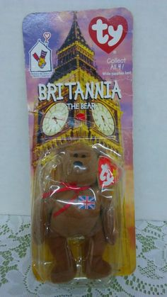 1999 McDonald TY Britannia The Bear in package #Ty