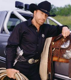 White hat:This white hat wears a black hat and has the skills of a black belt. Sgt. Cordell Walker, Texas Ranger, played by