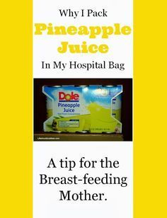 Why I pack Pineapple Juice In My Hospital Bag, A tip for breast-feeding moms #breastfeedinghack #nursinghack #plugged #duct