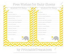 Gold Chevron  Baby Elephant Wishes for Baby Sheets