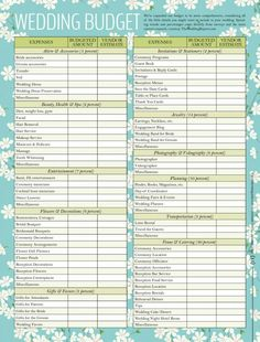Download a simple Wedding Planning Checklist template for Excel, to ...