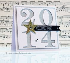 Happy New Year by stampcatwg - Cards and Paper Crafts at Splitcoaststampers Happy New Year 2014, Happy New Year Cards, New Year Cards Handmade, Simple Birthday Cards, Karten Diy, Paper Crafts, Card Crafts, Diy Crafts, Card Tags