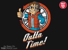 Outta Time T-Shirt - http://teecraze.com/daily-deal-5/ -  Designed by Olipop    #tshirt #art #fashion #tee #backtothefuture