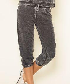 U.S. Apparel Black Capri Pants | zulily
